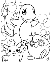 Small Picture Free Pokemon Coloring Pages Eldamiannet