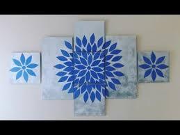 diy multi panel canvas starburst