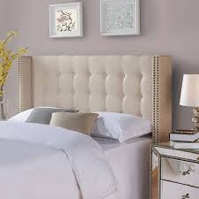 california king upholstered headboard. Delighful King Better Homes And Gardens Wingback Tufted Upholstered Headboard KingCal King  Ricepaper To California F