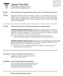 Orthopedic Nurse Sample Resume Extraordinary Resume Sample For Cna Resume Sample Sample Resume For Experienced