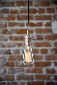 pendant lighting plug in. industrial plug in pendant light copper bare bulb socket edison with or canopy rayon lighting
