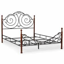 leann graceful scroll bronze iron bed by inspire q classic free today