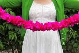 Paper Flower Garland Crepe Paper Flowers Hip Hip Hooray