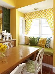 ideas charming living room sunroom design yellow wall light green curtain idea window with cool yellow