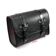 black motorcycle saddle bags pu leather motorbike side tool pouch tail bag luggage boro moto universal d20 color name black