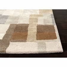 rugs hand tufted durable wool art silk gray brown area rug most fluffy bathroom rugs navy and beige area