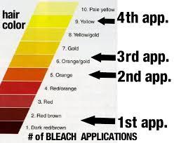 Bleach Hair Time Chart 72 Qualified Bleaching Hair Color Level Chart