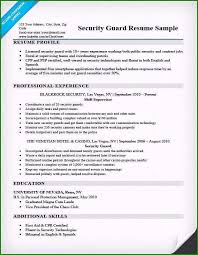 Security Guard Resume Examples Security Guard Resume Skills Customized Security Guard