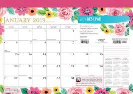 17 Month Calendar Bonnie Marcus 2019 17 X 12 Inch Monthly Desk Pad Calendar