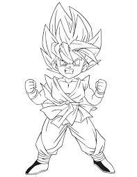 Goku Super Saiyan 4 Coloring Pages At Getdrawingscom Free For