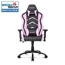 akracing premium v2 gaming chair black pink