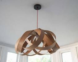 wooden pendant light shade fresh random lights daisy large lampshade cherry wood