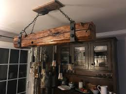Reclaimed Barn Wood Beam Light Fixture Chandelier In 2019