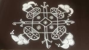 Bhogi Muggulu Designs With Dots Pongal Pot Rangoli Designs With 7 To 7 Dots Bhogi Kundalu