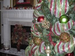 Christmas Tree Decorating Ideas Mesh Ribbon