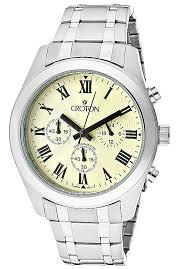 croton watches men s chronomaster chronograph ivory guilloche croton watches men s chronomaster chronograph ivory guilloche dial stainless steel cc311306sspa