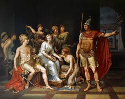 best illiad achilles and hector images achilles  hector admonishes paris for his softness and exhorts him to go to war by johann