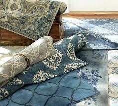 pottery barn rugs blue scroll tile rug indigo bosworth gray impressive best imag pottery barn