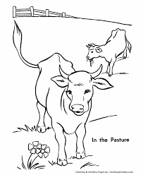 Small Picture Cow Coloring Pages Printable cows in the pasture coloring page