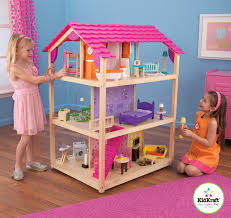 wooden barbie doll house furniture. KidKraft \u2013 So Chic Doll\u0027s House With 50 Pieces Of Furniture Wooden Barbie Doll