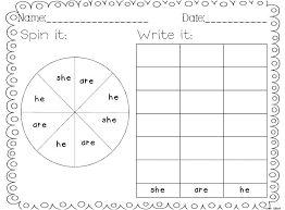 Free Kindergarten Sight Word Worksheets Free Kindergarten Sight ...