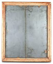 mercury glass mirror unusual french with original uniquely worn strip of patina down the frame