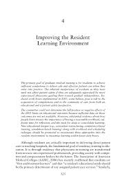 improving the resident learning environment resident duty  page 125
