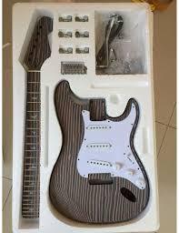 guitar kits for building electric bass guitars guitar kit world st zebrawood guitar kit chrome hardware