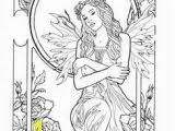 Realistic Fairy Coloring Pages For Adults Zabelyesayancom
