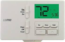 programmable thermostat product comparison chart p711