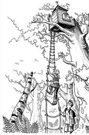 Treehouse Coloring Pages Cash Coloring