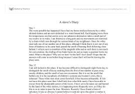 a slave s diary gcse english marked by teachers com document image preview
