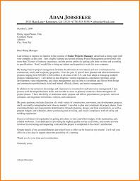 Project Management Executive Jobstreet Cover Letter For Construction