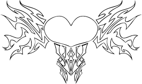 Small Picture Roses And Hearts Coloring Pages Heart Bow Coloring Pages Coloring