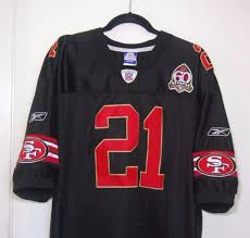 52 Mens Sewn Gore Season 49ers 21 Black Jersey 60th 1883682576 Size Frank Sf Reebok