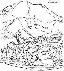 Small Picture Mountains Mount Rainier Coloring Page Mountain Sunshine