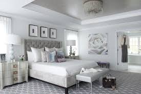 gray and silver bedroom with gray tray ceiling view full size