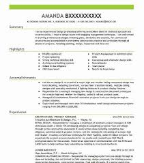 Architectural Project Manager Resume Sample Livecareer