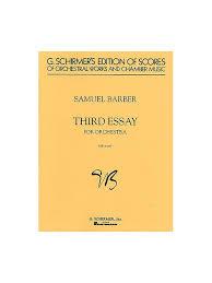 Samuel Barber  Third Essay For Orchestra Op     Study Score     Amazon com