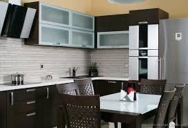 Kitchen backsplash glass tile dark cabinets White Rectangle Backsplash Glass Tile Dark Cabinets With Pictures Of Modern Dark Wood Loveteaco Kitchen Backsplash Glass Tile Dark Cabinets With Image 10 Of 21