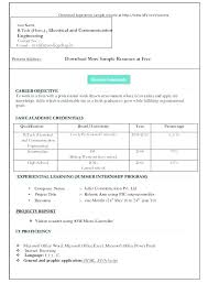 Resume Formats For Freshers Word Resume Formats Best Solutions Of ...