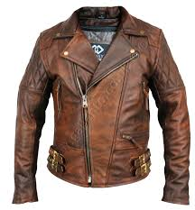 motorcycle leather jacket 135 00