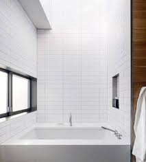 white subway tile sleek bathtub surround design ideas