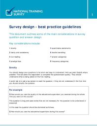 How To Design Survey Questions Survey Design Best Practice Guidelines Pdf Free Download