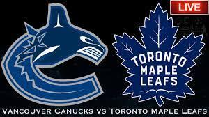 maple leafs vs canucks ice hockey