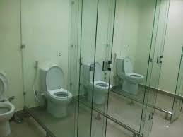bathroom stall walls. Public Bathroom With Clear Stall Walls A