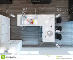 Kitchen Bar Top Top View Modern Kitchen Bar Stock Illustration Image 56429209
