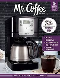 This optimal brew™ coffee maker is designed to extract the fullest flavor possible. Mr Coffee Jwtx85 8 Cup Thermal Coffeemaker Stainless Steel Sale Coffee Makers Shop Buymorecoffee Com