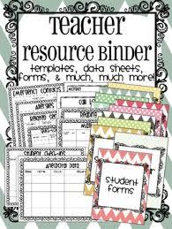 Teacher Binder Templates Teacher Resource Binder Templates Data Sheets Forms Organizers