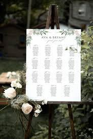 15 Table Seating Chart Greenery Wedding Seating Chart Template Printable 15 Table